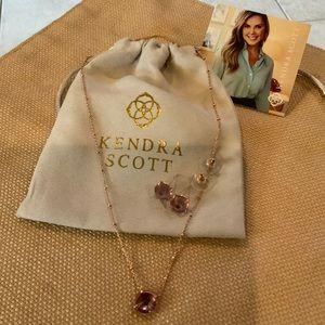 Kendra Scott Jolie Rose Gold Violet Set
